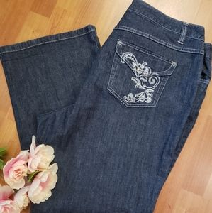STYLE & COMPANY WOMENS BOOTCUT JEANS 20W